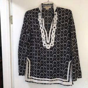 Michael Kors black and white tunic